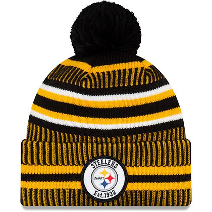 Men's Pittsburgh Steelers New Era Black/Gold 2019 NFL Sideline Home Official Spo