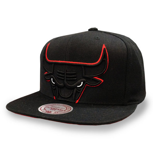 the latest 3cd84 e65e8 Men s Chicago Bulls Mitchell and Ness Cropped XL Logo Black Snapback