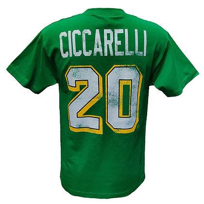 Men's Minnesota North Stars Dino Ciccarelli #20 OTH Alumni Green T-shirt