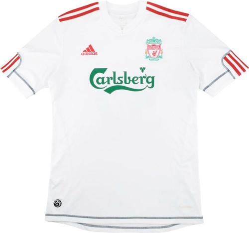 2009/10 Men's Liverpool Adidas Carlsberg White Third Jersey