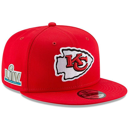 Men's Kansas City Chiefs Super Bowl LIV New Era Scarlet Sidepatch 9FIFTY Hat