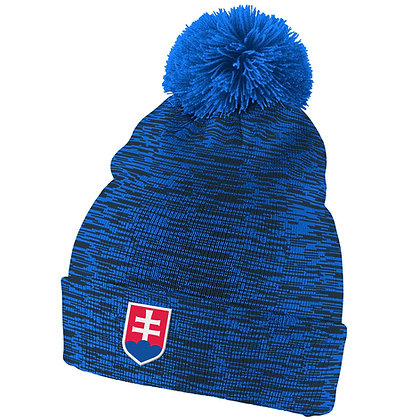 Team Slovakia IIHF 2019 World Junior Champ. Nike Cuffed Pom Knit Hat / Beanie