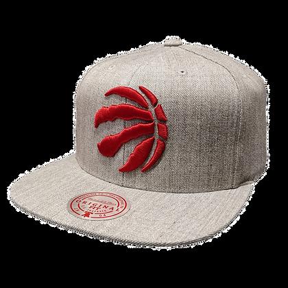 Men's Toronto Raptors Primary Red Logo NBA Snapback Cap Mitchell&Ness