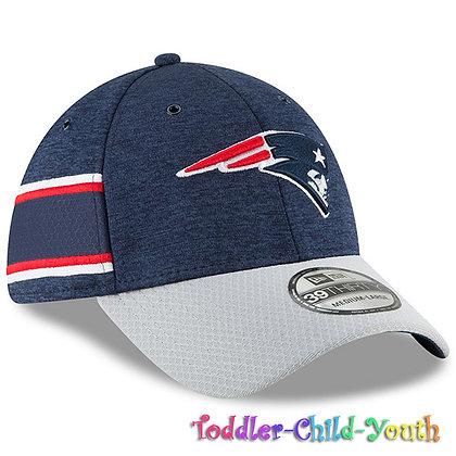 Kids New England Patriots New Era Navy/Gray 2018 NFL Sideline Home 39THIRTY Flex
