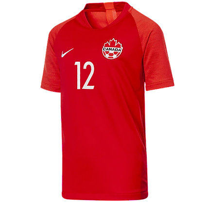 Youth's Team Canada Alphonso davies Nike Soccer Home Jersey