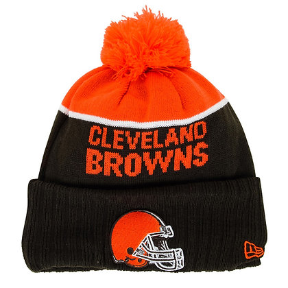 Men's Cleveland Browns New Era Brown/ orange NFL Sideline Sport Knit / Toque