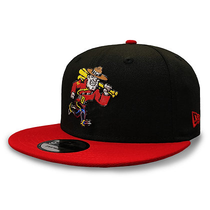 Vancouver Canadians New Era Liquid Metal Mountie Black Red 9FIFTY Snapback
