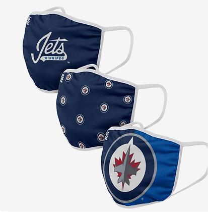 Winnipeg Jets 3 PACK FACE MASKS (Adult)