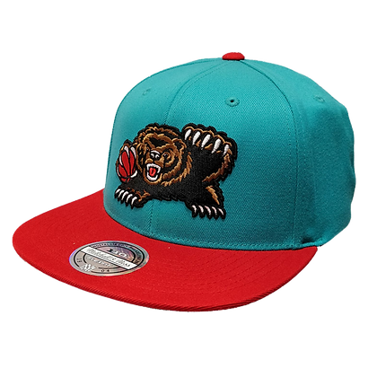 Men's Vancouver Grizzlies Teal Scarlet Hardwood Classic Mitchell&Ness Snapback