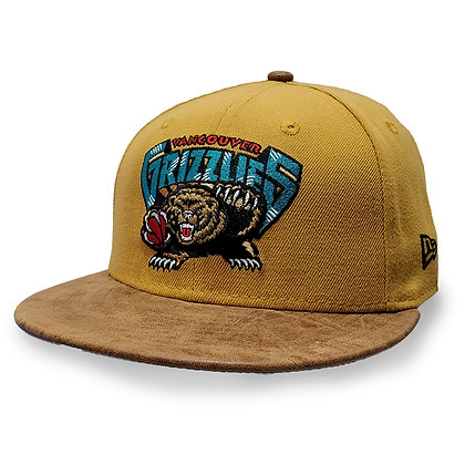 Men's Vancouver Grizzlies Tan Rustic Vize New Era 59FIFTY Fitted Hat