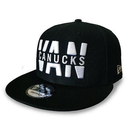 "Men's Vancouver Canucks ""VAN CANAUCKS"" New Era Black 9FIFTY Snapback"
