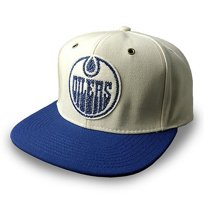 Men's Edmonton Oilers Sketch-Stitched adidas Strapback