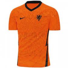 Men's Netherlands Home Nike Euro 2020 Blank Jersey