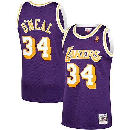 Men's Los Angeles Lakers Shaquille O'Neal Purple 96-97  HWC Swingman Jersey