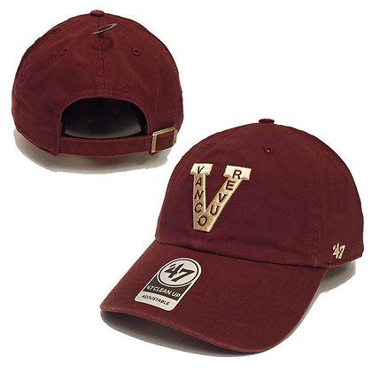 Men's Vancouver Millionaires 47 Brand Clean Up Maroon Adjustable Hat