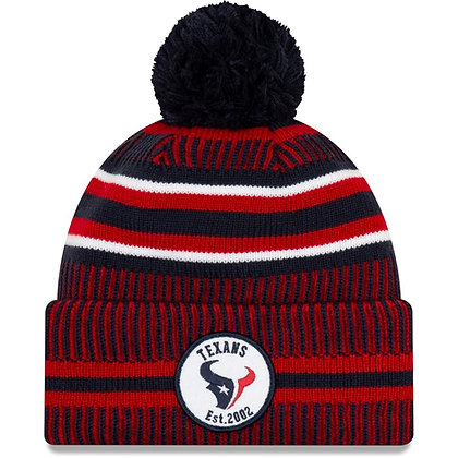 Men's Houston Texans New Era Navy/Red 2019 NFL Sideline Home Official Sport Knit