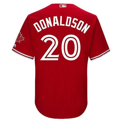 Men's Toronto Blue Jays Josh Donaldson Majestic Scarlet Alt Cool Base J
