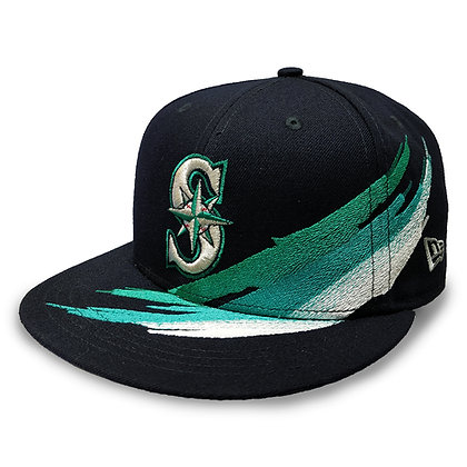 Men's Seattle Mariners Brush Collection New Era 9FIFTY Navy Snapback Hat