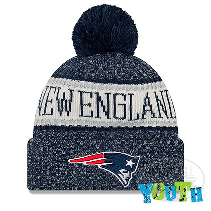 Youth New England Patriots New Era 2018 NFL Sideline Cold Weather Knit Hat