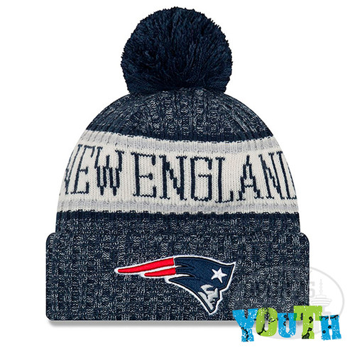 98c669acc Youth New England Patriots New Era 2018 NFL Sideline Cold Weather ...