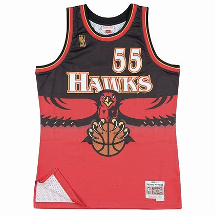 Men's Atlanta Hawks Dikembe Mutombo 96-97 Red HWC Mitchell & Ness Swingman