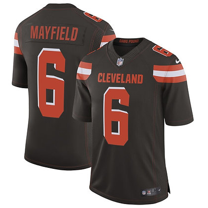 Men's Cleveland Browns Baker Mayfield Nike Brown Limited Jersey