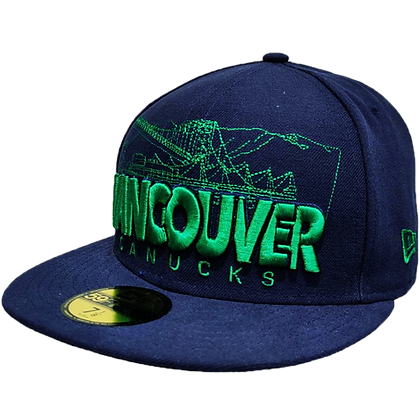 Men's Vancouver Canucks Cityline Navy / Green New Era 59FIFTY Fitted Hat