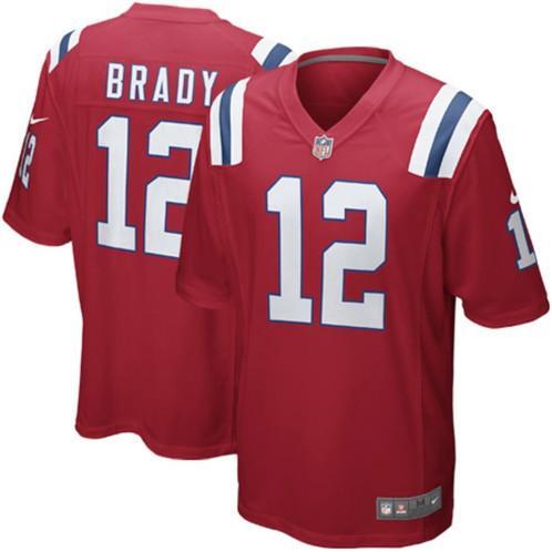 sports shoes 7f226 4177f Men's New England Patriots Tom Brady Nike Red Alternate Limited Jersey