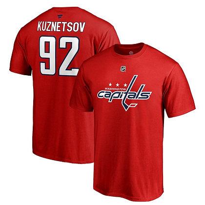 Men's Washington Capitals Evgeny Kuznetsov Fanatics Red Name and Number T-shirt