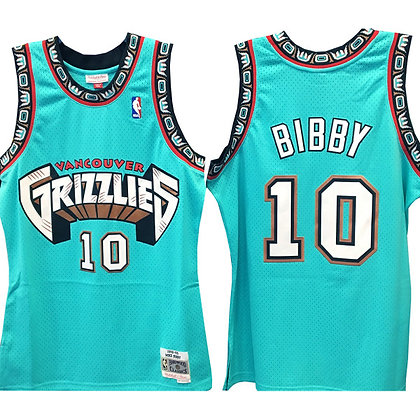 Men's Vancouver Grizzlies Mike Bibby 1998-99 HWC Mitchell & Ness S