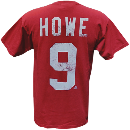 Men's Detroit Red Wings Gordie Howe #9 OTH Alumni Pale Red T-shirt