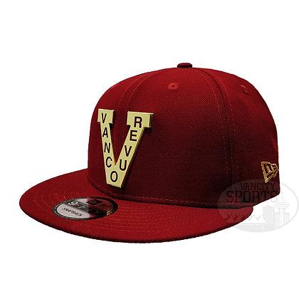 Men's Vancouver Millionaires New Era Metal Frame 9FIFTY Maroon Snapback Hat