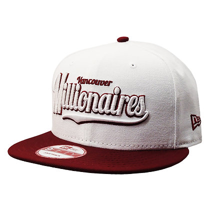 Men's Vancouver Millionaires New Era White / Maroon Visor Snapback