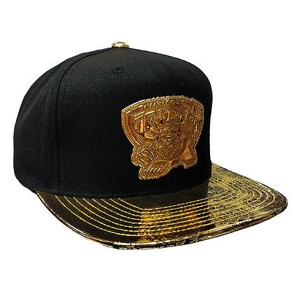 Men's Vancouver Grizzlies Black&Gold Mitchell & Ness Black Snapback