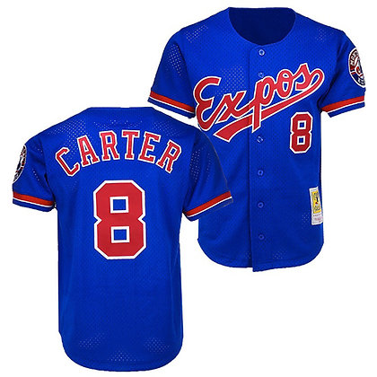 Montreal Expos Gary Carter Mitchell & Ness Royal Mesh Batting Practice Jersey