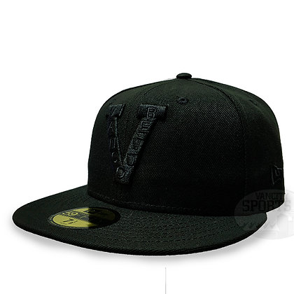 Men's Vancouver Millionaires New Era Black on Black 59FIFTY Fitted hat