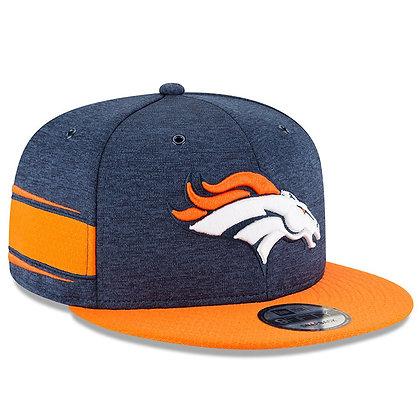 Men's Denver Broncos New Era Navy/Orange 2018 NFL Sideline Home 9FIFTY Snapback