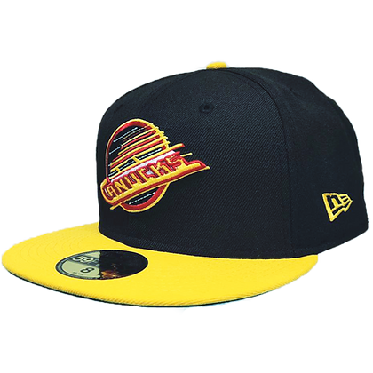 Men's Vancouver Canucks Skate Colour Yellow Brim New Era 59FIFTY Fitted Hat