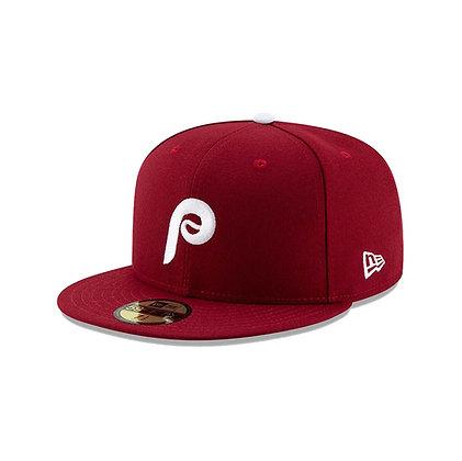 Men's Philadelphia Phillies Alt 2 New Era On Field 59FIFTY Maroon Fitted Hat