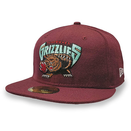 Men's Vancouver Grizzlies Burgundy New Era 59FIFTY Fitted Hat