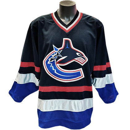 Authentic On-Ice Player Jersey Men's Vancouver Canucks Reebok Navy Home 2000