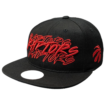 Men's Toronto Raptor Red Script Adjustable Fit Hat