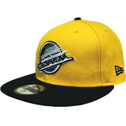 Men's Vancouver Canucks Skate logo Yellow /Black Brim New Era 59FIFTY Fitted Hat