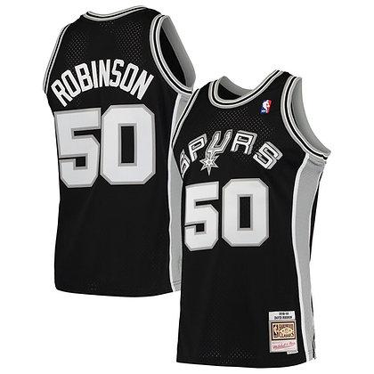 Men's Antonio Spurs David Robinson Black 98-99 HWC Swingman Jersey