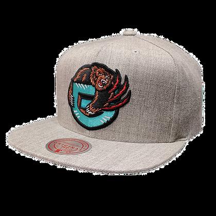 Men's Vancouver Grizzlies Mitchell & Ness Grey SnapBack Hat