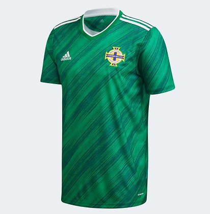 Men's Northern Ireland Home adidas Euro 2020 Blank Jersey