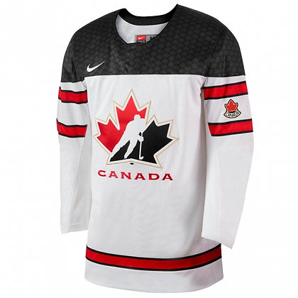 Men's Team Canada 2019 IIHF World Junior Championship Replica White Jersey