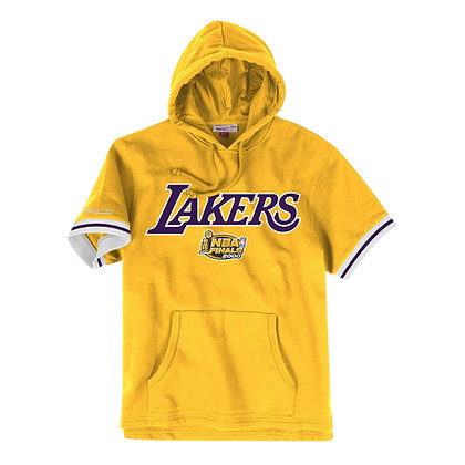 Men's Los Angeles Lakers Mitchell & Ness French Terry Short Sleeve Hoodie