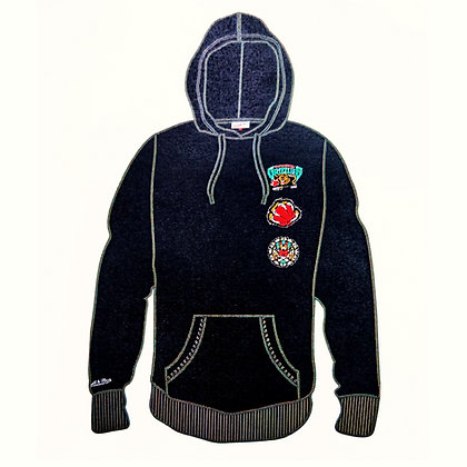 Men's Vancouver Grizzlies Mitchell & Ness 3 Logo Pull-over Hoodie