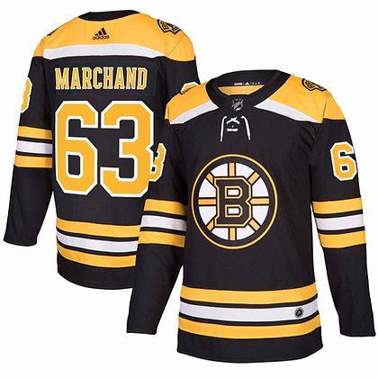 Men's Boston Bruins Brad Marchand adidas Black Authentic player Jersey